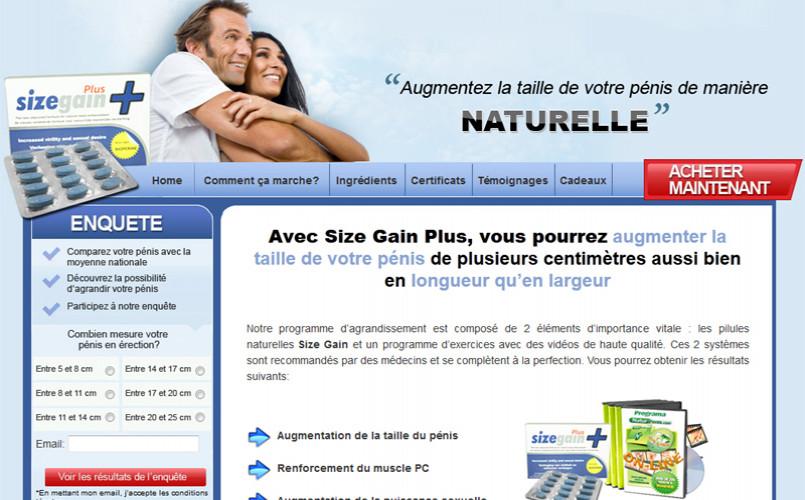 Programme Naturel SizeGain Plus
